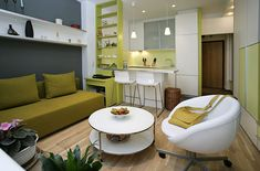 Living Room & Kitchen #design