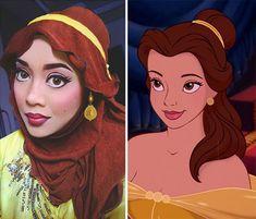 Hijab Disney: Woman Uses Her Hijab To Turn Herself Into Disney Princesses | Bored Panda