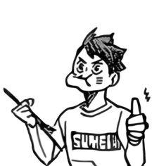 Manga Anime, Manga Haikyuu, Anime Art, Haikyuu Characters, Anime Characters, Hiro Big Hero 6, Oikawa Tooru, Anime Stickers, Fan Art