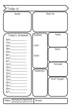 Filofax personal planner page to print. May need to adjust size ..