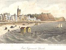 East Teignmouth, South Devon and the church in the mid century. South Devon, Devon Devon, Michael Carter, Regency Era, Seaside, 19th Century, Taj Mahal, The Past, Places To Visit