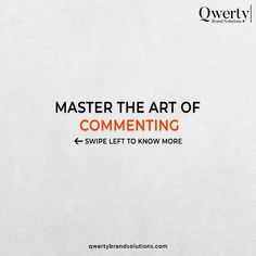 Commenting is an art that takes some amazing efforts to master the skills. Want to know how to master the art of commenting, just swipe through the carousel. . . #contentmarketing #writersociety #contentcreators #contentcreation #sensitivecontent #copywriter #contentwriting #igwrites #writingofinstagram #writingofig #writingdesk #contentwriter #contentwriters #contentdevelopment #websitetips #visualcontentmarketing #onlinestrategy #contentmarketingstrategies #qwertybrandsolutions Top Digital Marketing Companies, Content Marketing, Copywriter, Web Development, Carousel, Effort, Amazing, Art, Art Background