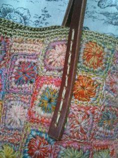 Sophie Digard crochet bag - close-up