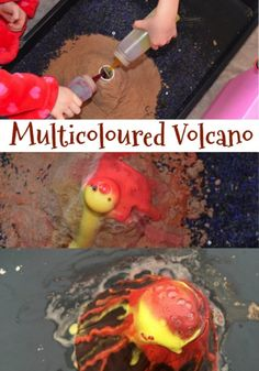 How to make a multicoloured volcano #science #scienceforkids