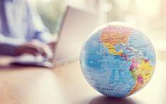 Descargar fondos de pantalla Mundo, América del Norte, América del Sur, la búsqueda de los viajes de los conceptos, agente de viajes en línea