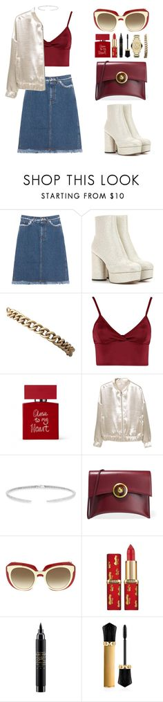 """Geen titel #598"" by melissa-klink ❤ liked on Polyvore featuring Acne Studios, Marc Jacobs, Lipsy, Bella Freud, MANGO, Anne Sisteron, Tory Burch, Dolce&Gabbana, MAC Cosmetics and Christian Louboutin"