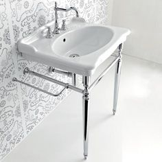 Find Console Sink With Metal Legs. Looking for a sleek console to furnish the bathroom of your dreams? With one of the console sinks with metal legs you'll create a chic bathroom where contemporary style meets functionality. Pedistal Sink, Pedestal Basin, Vintage Bathrooms, Chic Bathrooms, Console Sink, Vintage Sink, Sink Countertop, Bathroom Renos, Bathroom Ideas