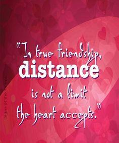In true friendship