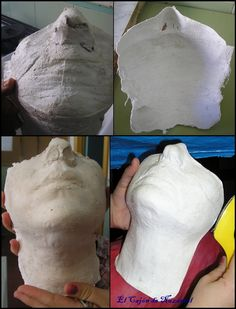 Molde mentón realizado con vendas de escayola y escayola. http://www.elcajondenazanial.com/2015/03/todo-lo-que-debes-saber-sobre-protesis.html