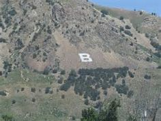"#THANKFUL FOR THE Box Elder High School's ""B"" (north) ON THE MOUNTAIN.  REMINDS ME THAT I'M HOME."