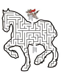 Printable Horse Maze