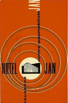 Hotel Jan Luggage Tag. #vintage #travel #illustration