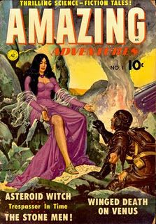"""Dedicated to all things """"geek retro:"""" the science fiction/fantasy/horror fandom of the past including pin up art, novel covers, pulp magazines, and comics. Art Pulp Fiction, Science Fiction Magazines, Pulp Art, Comic Book Plus, Comic Book Covers, Vintage Comic Books, Vintage Comics, Vintage Art, Caricature"""
