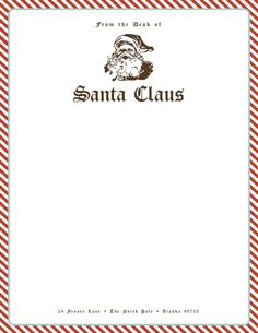 Free Santa Stationery! Give your kids their very own personalized letter from Santa this Christmas!