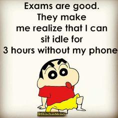 For ziya exam quotes, shinchan quotes, funny facts, weird facts, funny jokes Shinchan Quotes, Exam Quotes Funny, Exams Funny, Funny School Jokes, Swag Quotes, Some Funny Jokes, Funny Qoutes, Crazy Funny Memes, Sarcastic Quotes