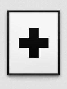 nordic style print // black cross design print // by spellandtell
