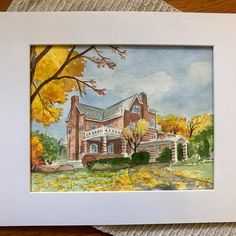 Checking things off your gift list? When you support a small business, those gifts just mean more. House Paintings, Arte Sketchbook, Realtor Gifts, House Drawing, Hand Sketch, Watercolor Artwork, Custom Paint, That Way, Custom Homes