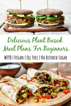 Plant Based Diet Meals, Plant Based Meal Planning, Plant Based Whole Foods, Plant Based Eating, Easy Plant Based Recipes, Plant Based Diet Plan, Chicken Caesar Sandwich, Reuben Sandwich, Vegan Meal Plans