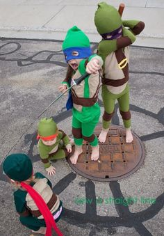 awesome Teenage Mutant Ninja Turtles Costumes! // sew a straight line