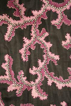 Dress Detail 1860 American, Silk