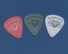 Fender Custom 20th Anniversary set of 3 guitar picks #Fender #GuitarPicks