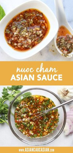 Nuoc cham is a flavorful Vietnamese dipping sauce that is easy to make at home! It's a staple in Vietnamese cuisine, but compliments so many asian recipes. This magical sauces pairs with steak, as a d Spring Roll Dipping Sauce, Thai Dipping Sauce, Sauce For Spring Rolls, Asian Dipping Sauces, Vietnamese Sauce, Vietnamese Cuisine, Easy Vietnamese Recipes, Indonesian Recipes, Healthy Asian Recipes
