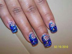 Blue glitter glam