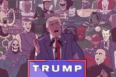 Love how Trump is portrayed as a cartoonish villain which he is #elmens #trump…