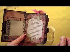 "SCRAPPY HAPPY HOUR 6 10 13 featuring ""Parisian Dream"" mini journal - YouTube"