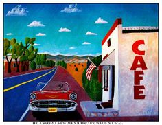 Cafe Wall Mural Painting by Barbara Chichester - Cafe Wall Mural Fine Art Prints and Posters for Sale fineartamerica.com