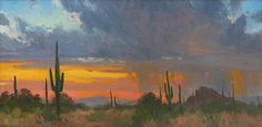 At the End of the Day by Bill Cramer Oil ~ 12 x 24
