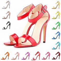HooH Damen Sexy Schnalle Peep Toe Stiletto Sandalen Abendschuhe Pumps - http://on-line-kaufen.de/hooh/hooh-damen-sexy-schnalle-peep-toe-stiletto-pumps