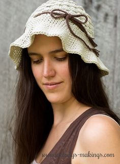 Pebble Beach Hat ~ Free Crochet Pattern!  With all sizes Newborn through Adult included, this is a must have summer pattern.