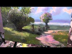 Живопись маслом. Мастер-класс по работе И. Левитана. The June day. Master Class - YouTube