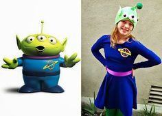 This year, The Pea and her 2 BFFs decided they wanted to be Toy Story Aliens for Halloween.  We found ready-to-wear costumes , but they a...