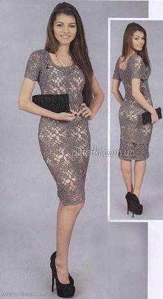 Ancora un bellissimo vestito all'uncinetto con metodo di piastrelle a motivo floreale. fonte:http://www.microsofttranslator.com/bv.aspx?from=&to
