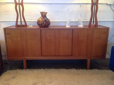 MCM danish teak credenza. Attributed to Kofod Larsen. Available now at Mid Mod Collective. Email midmodcollective@gmail.com for more info. SOLD!