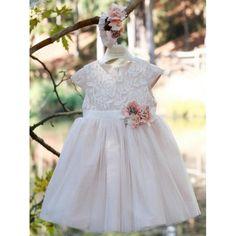 Χειμερινό βαπτιστικό φόρεμα Mi Chiamo σε ροζ απόχρωση από τούλι, διακοσμημένο με δαντέλα και λουλούδια, Χειμωνιάτικο φόρεμα βάπτισης μοντέρνο-οικονομικό, Βαπτιστικά ρούχα κορίτσι Χειμερινά, Επώνυμο βαπτιστικό φόρεμα τιμές-προσφορά Girls Dresses, Flower Girl Dresses, Victorian, Wedding Dresses, Winter, Fashion, Dresses Of Girls, Bride Dresses, Winter Time