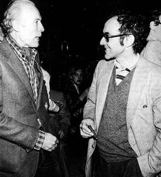 Eric Rohmer and JLG.