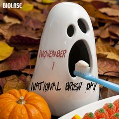 Don't forget today is the first ever #NationalBrushDay! The day after #Halloween is a perfect time for parents to remind their kids to brush for two minutes, twice a day!