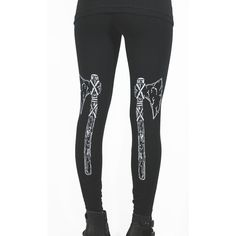The Viking Axe Leggings S-Xl ($35) ❤ liked on Polyvore featuring grey, leggings and women's clothing