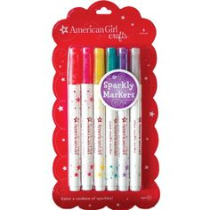 Stocking stuffers: Amazon.com - American Girl Crafts Sparkly Markers - Children S Scrapbooking Kits