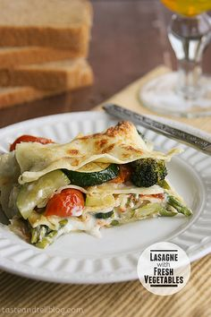 Lasagne with Fresh Vegetables | Taste and Tell http://www.tasteandtellblog.com/lasagne-with-fresh-vegetables/#_a5y_p=2278259