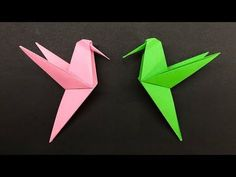 Easy Origami for kids Hummingbird – How to make Origami Hummingbird Origami facile pour les enfants Colibri – Comment faire … Origami Ball, 3d Origami, Origami Simple, Easy Origami For Kids, How To Make Origami, Origami Butterfly, Paper Crafts Origami, Origami For Children, Easy Oragami