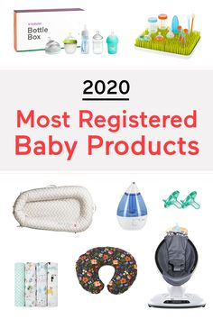 There are a lot of options when it comes to baby products. We narrowed down the top 29 must-have baby products Babylist parents registered for. Baby Life Hacks, Baby Registry Items, Baby Planning, Baby Necessities, Baby List, Baby Must Haves, Everything Baby, Baby Needs, Free Baby Stuff