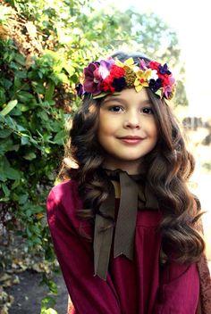 Fairy Costume 101: DIY Felted Flower Crown