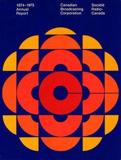 Cover CBC 1974-1975 Annual Report by Burton Kramer