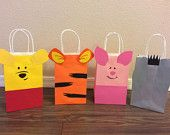 8 Winnie the Pooh Birthday Party Bags- Pooh & Frends
