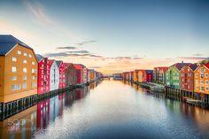 Sunset in Trondheim city last year by Raafoto