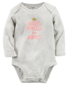 nice Carter's Baby Girls' Daddy's Princess Has Arrived Long-Sleeve Bodysuit - All Baby - Kids & Baby - Macy's Carters Baby Clothes, Carters Baby Girl, My Baby Girl, Baby Girls, Babies Clothes, Chloe, Daddys Little Princess, July Baby, Baby Kind